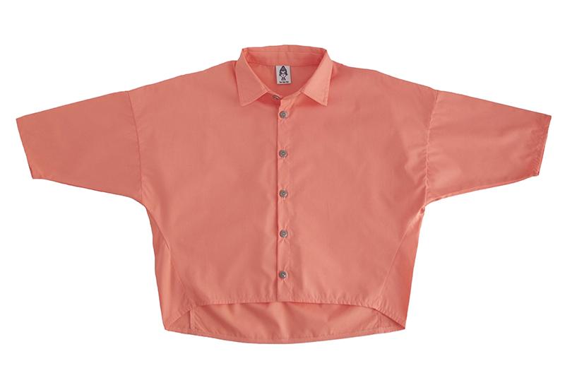 Рубашка унисекс коралловая