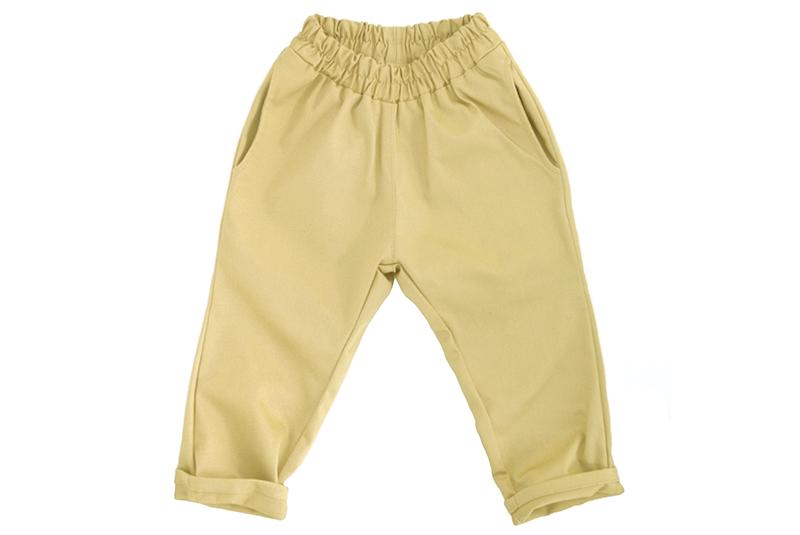 Штаны унисекс пастельно-жёлтые