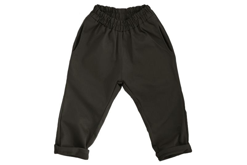 Штаны унисекс чёрно-коричневые