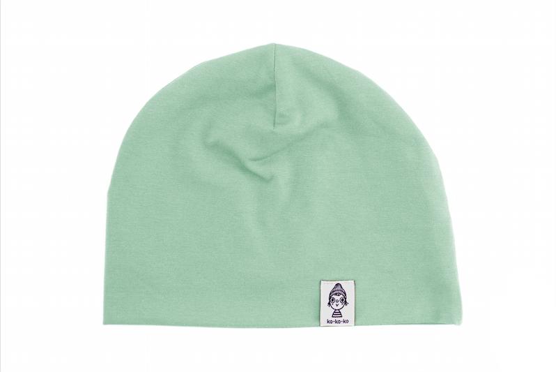 Трикотажная шапка мятная