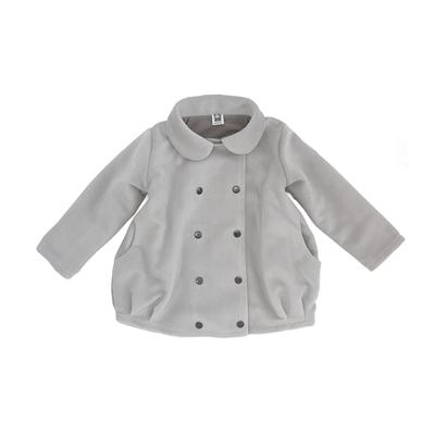 Пальто светло-серое для девочки