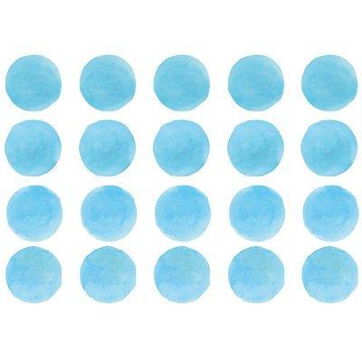 Интерьерная наклейка Watercolor Polka Dots — голубой