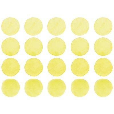 Интерьерная наклейка Watercolor Polka Dots — пастельно-жёлтый