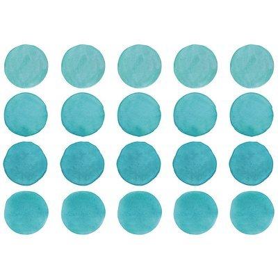 Интерьерная наклейка Watercolor Polka Dots — бирюзовый