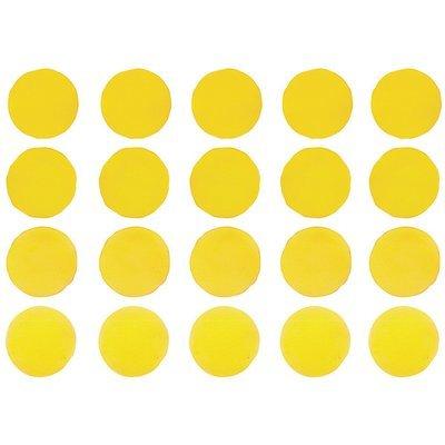 Интерьерная наклейка Watercolor Polka Dots — жёлтый