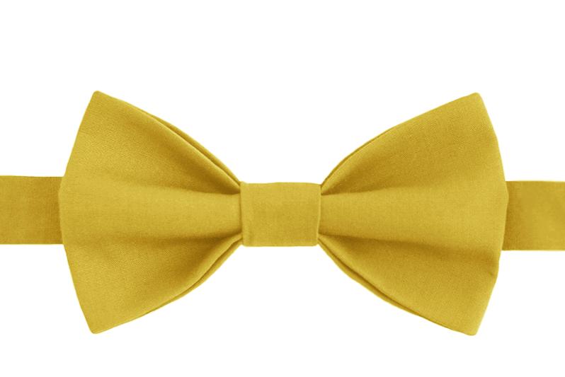 Галстук-бабочка унисекс желто-горчичная