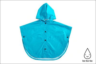 Дождевик-накидка голубой