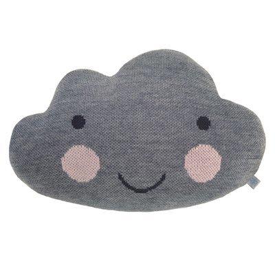 Подушка-облако тёмно-серая