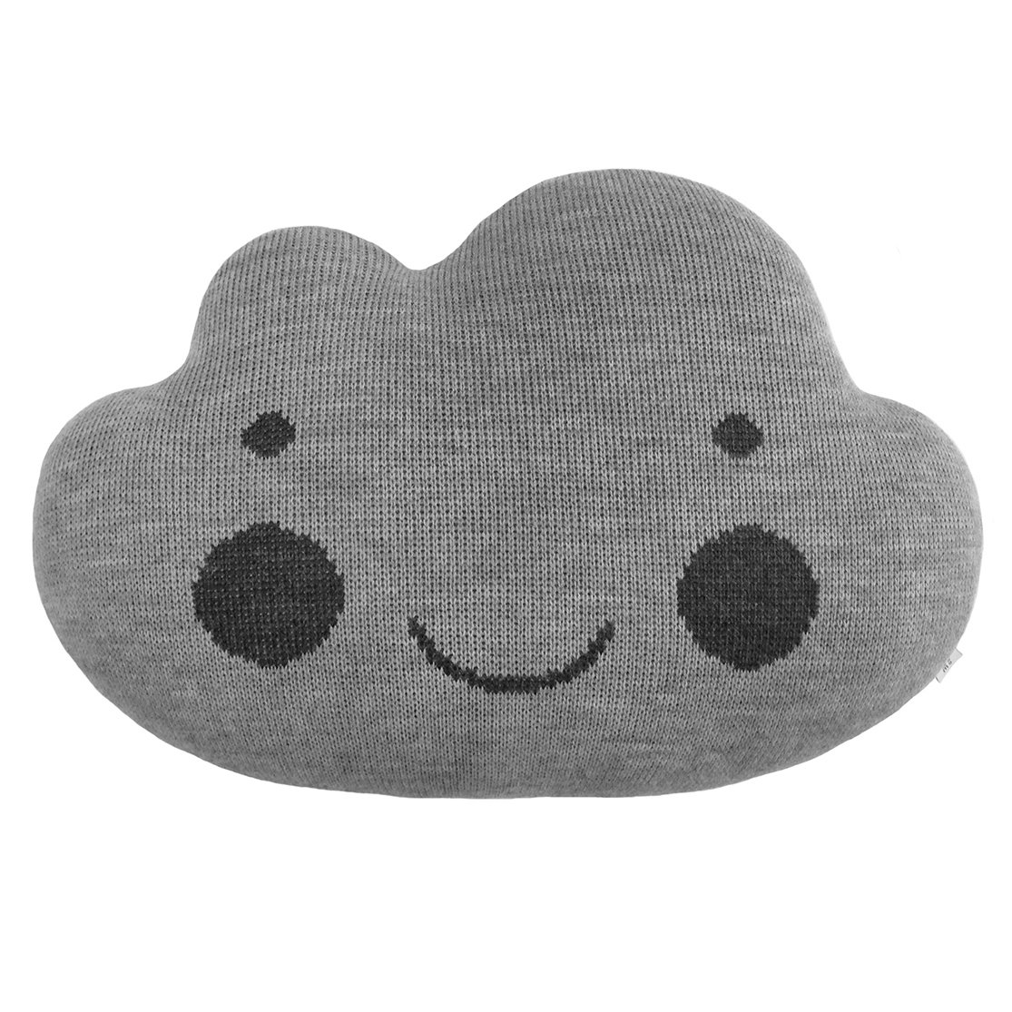 Подушка-облако серая монохром