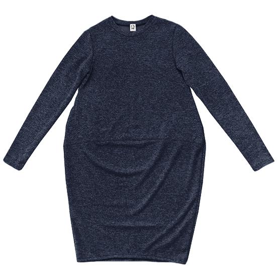 Трикотажное платье синее