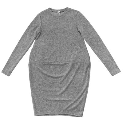 Трикотажное платье серое