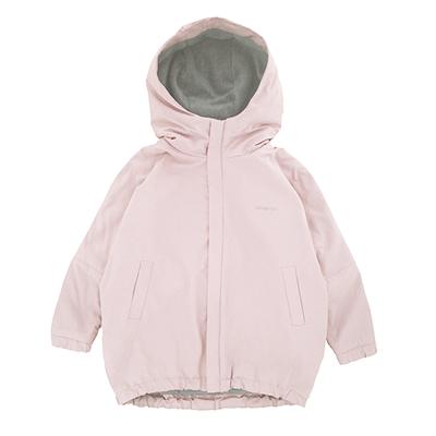 Парка детская пудровая (нежно-розовый пастельный отенок)