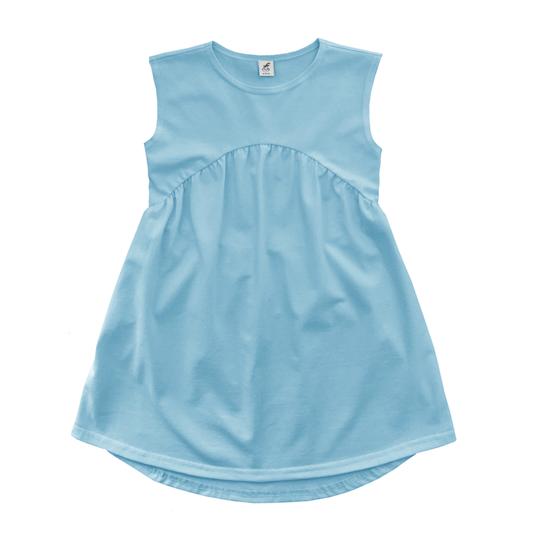 Трикотажное платье нежно-голубое