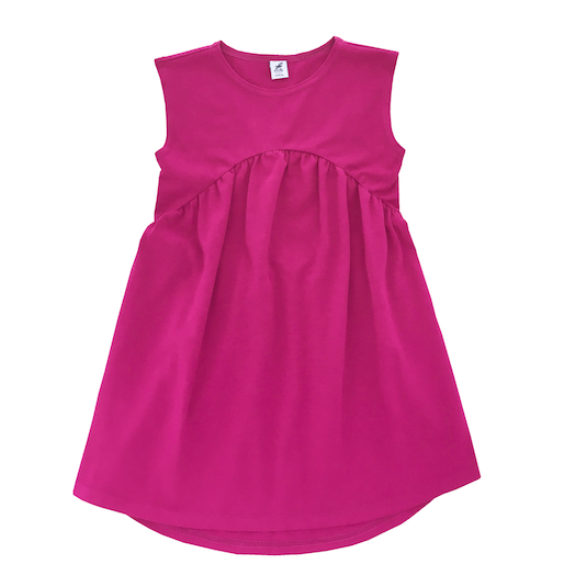 Трикотажное платье фуксия