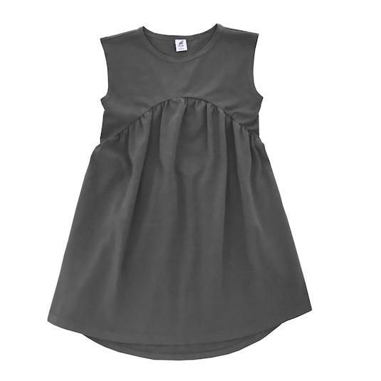 Трикотажное платье темно-серое (антрацит)