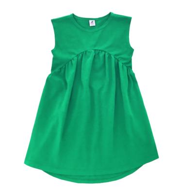 Трикотажное платье зеленое