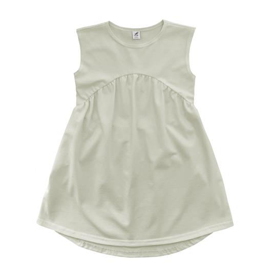 Трикотажное платье айвори