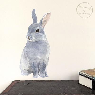 Интерьерная наклейка «Заяц» (А4)