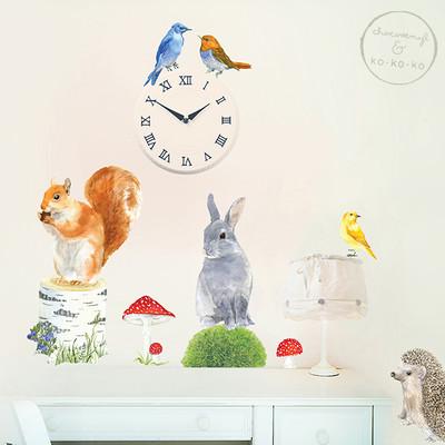 Интерьерная наклейка «Набор животных —  малый»  (10 элементов)