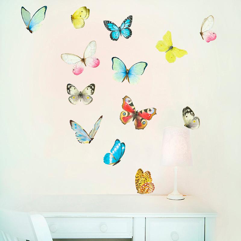 Интерьерная наклейка «Бабочки 13шт» размер M