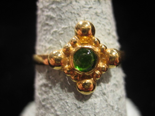 Chrome Diopside 18 Karat Gold Ring