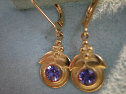 Tanzanite Earrings 18 Karat Gold