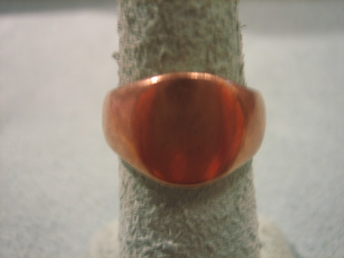 Copper Ring Signet Ring