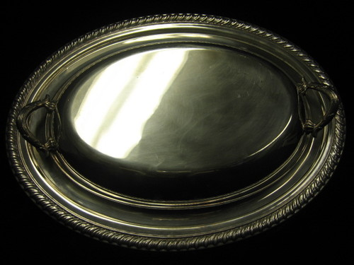 Sivler Covered Serving Dish