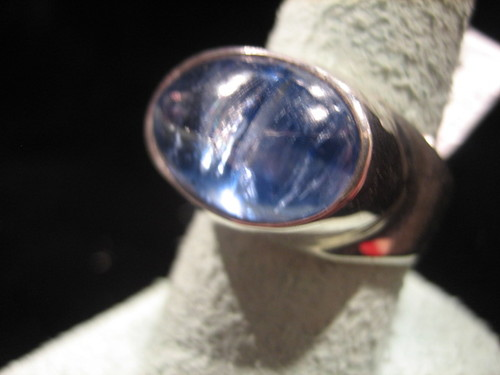 Kyanite Ring Blue Kyanite Silver Ring