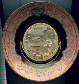 Chokin Art Hawaii Plate 24KT Gold