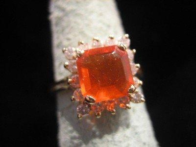 Mexican Opal and Diamond Ring 14 Karat