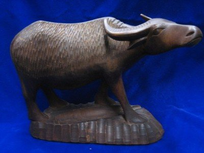 Water Buffalo Sculpture African Wood Carving Statue