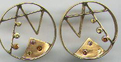 Colored Diamond Earrings Pink Diamonds Custom Design 14 Karat Gold