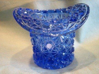 Crystal Rose Bud Cobalt Blue