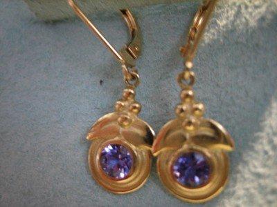 Tanzanite Earrings 18 Karat Gold