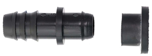 Коннектор заершенный 20мм с резиновым уплотнителем 00390