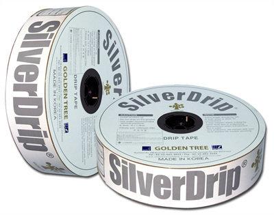 Лента капельная Silver Drip (Корея) 16-6mil- 1,0л/ч-20см 01018