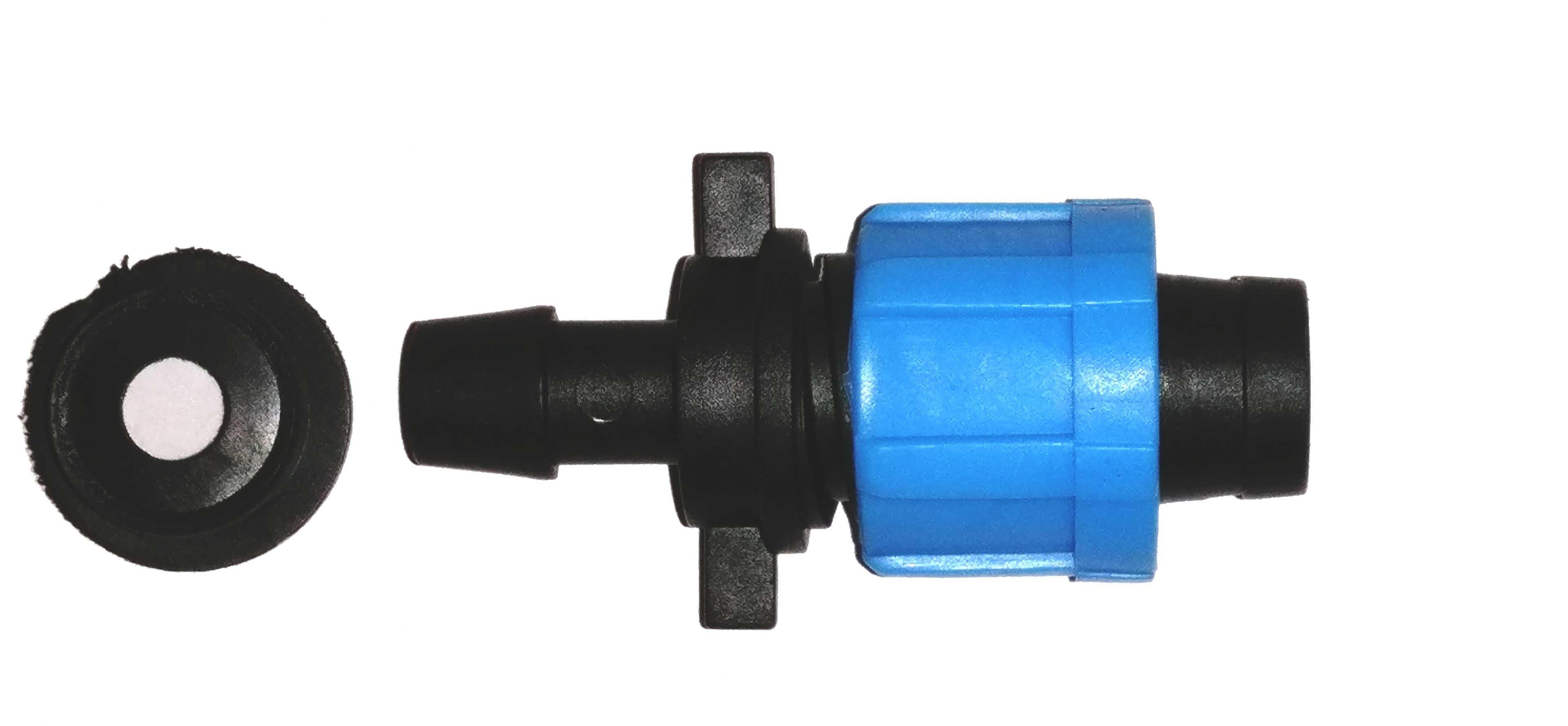 Коннектор для капельной ленты с резиновым уплотнителем 00104