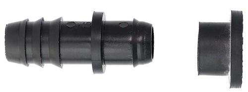 Коннектор заершенный 16мм с резиновым уплотнителем 00307