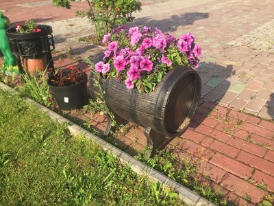 Боченок для растений (PLANTER BARREL SWING)