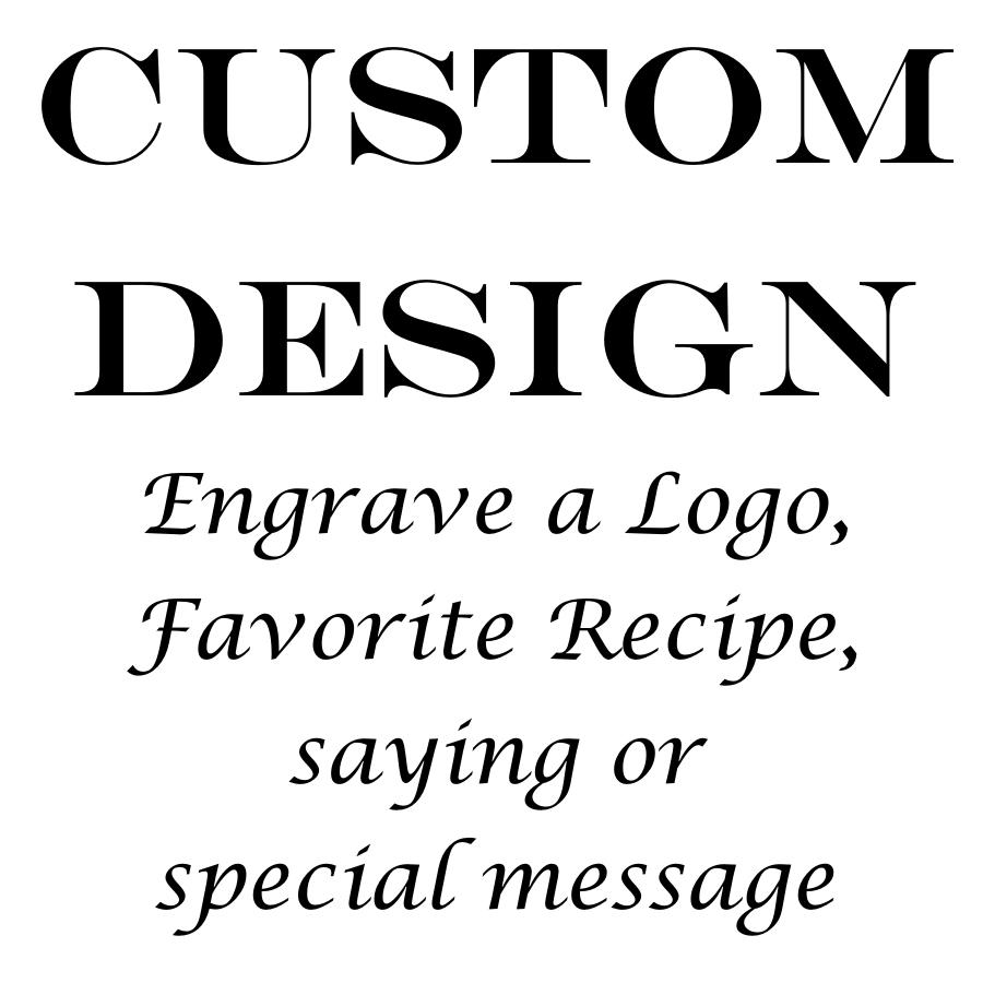 Personalized Cutting Board Custom Engraved Bamboo Cutting Board-15 x 12 Handle Design 13