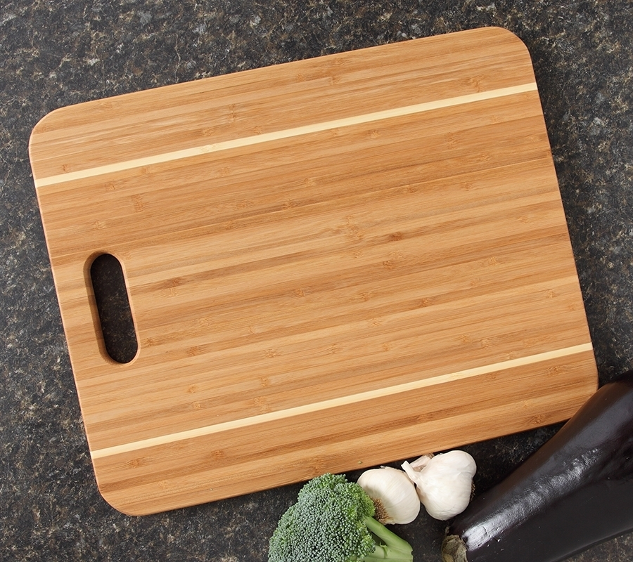 Personalized Cutting Board, Custom Engraved Bamboo Cutting Board-15 x 12 Handle