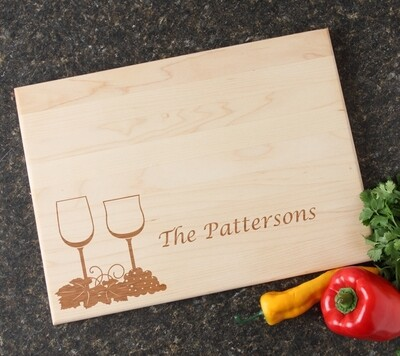 Personalized Maple Wood Cutting Board 15 x 11 DESIGN 5