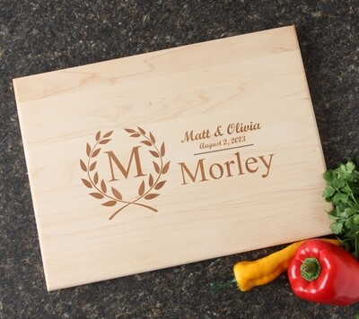 Personalized Maple Wood Cutting Board 15 x 11 DESIGN 6