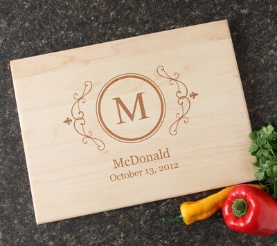Personalized Maple Wood Cutting Board 15 x 11 DESIGN 10