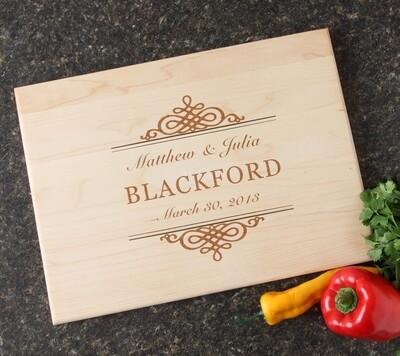 Personalized Maple Wood Cutting Board 15 x 11 DESIGN 14