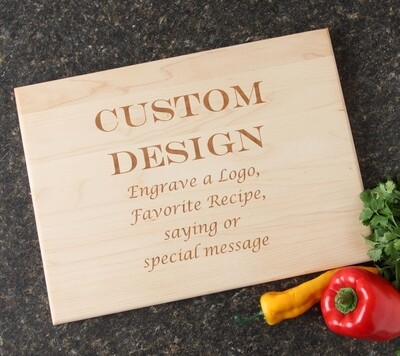 Personalized Maple Wood Cutting Board 15 x 11 DESIGN 13