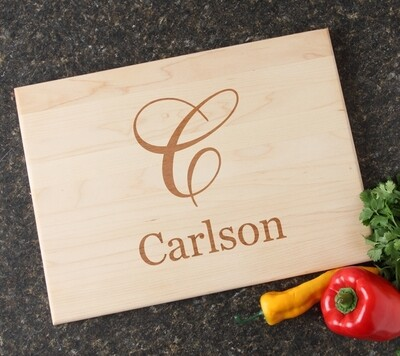 Personalized Maple Wood Cutting Board 15 x 11 DESIGN 3