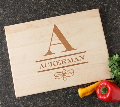 Personalized Maple Wood Cutting Board 15 x 11 DESIGN 12