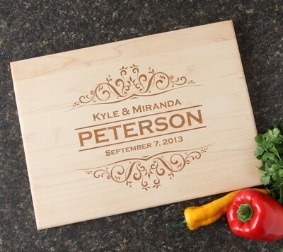 Personalized Maple Wood Cutting Board 15 x 11 DESIGN 7